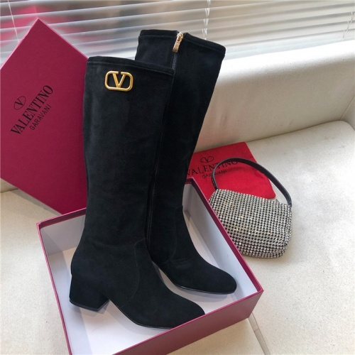 Replica Valentino Boots For Women #814337 $100.00 USD for Wholesale