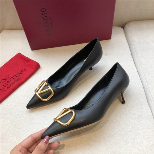 Valentino High-Heeled Shoes For Women #814344 $80.00 USD, Wholesale Replica Valentino High-Heeled Shoes