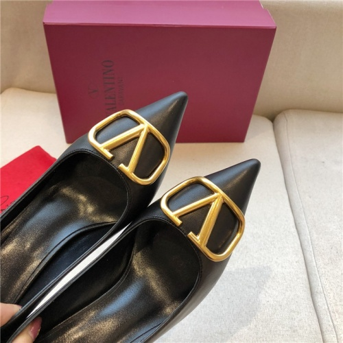 Replica Valentino High-Heeled Shoes For Women #814344 $80.00 USD for Wholesale