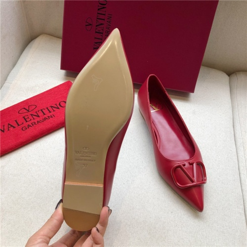 Replica Valentino Flat Shoes For Women #814377 $80.00 USD for Wholesale
