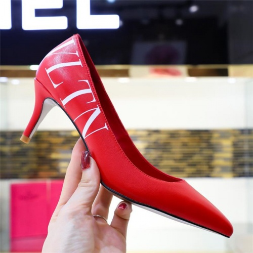Replica Valentino High-Heeled Shoes For Women #814389 $80.00 USD for Wholesale