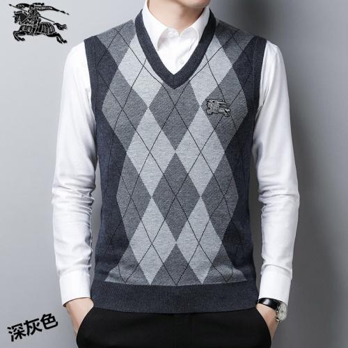 Burberry Sweaters Sleeveless V-Neck For Men #814402