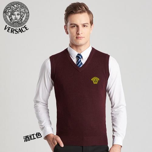 Versace Sweaters Sleeveless V-Neck For Men #814403