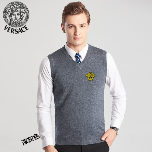 Versace Sweaters Sleeveless V-Neck For Men #814408
