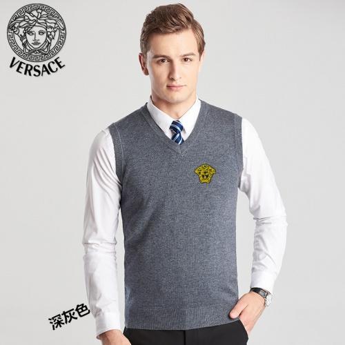 Versace Sweaters Sleeveless V-Neck For Men #814408