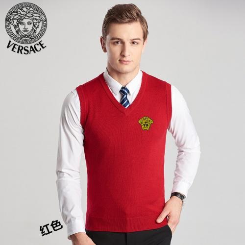 Versace Sweaters Sleeveless V-Neck For Men #814409
