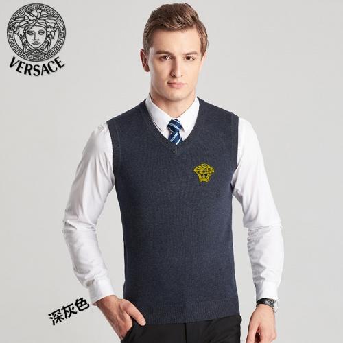 Versace Sweaters Sleeveless V-Neck For Men #814410