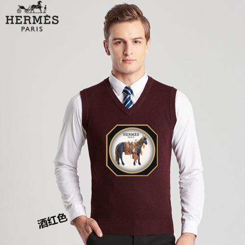 Hermes Sweaters Sleeveless V-Neck For Men #814454