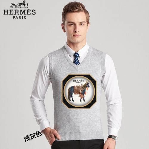 Hermes Sweaters Sleeveless V-Neck For Men #814455