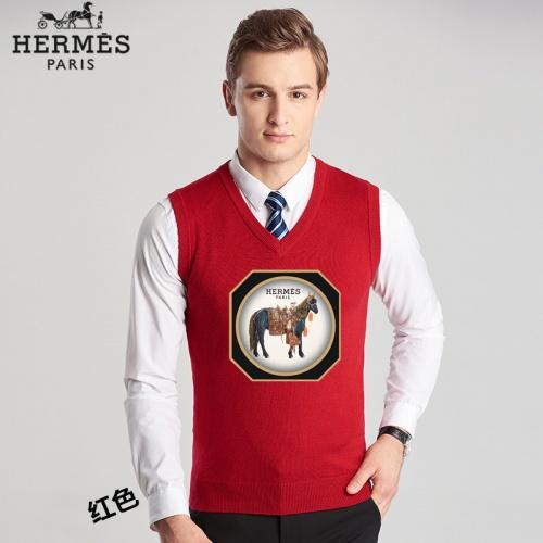 Hermes Sweaters Sleeveless V-Neck For Men #814459