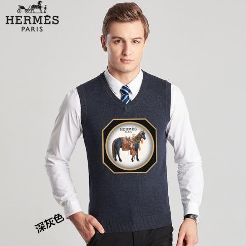 Hermes Sweaters Sleeveless V-Neck For Men #814460