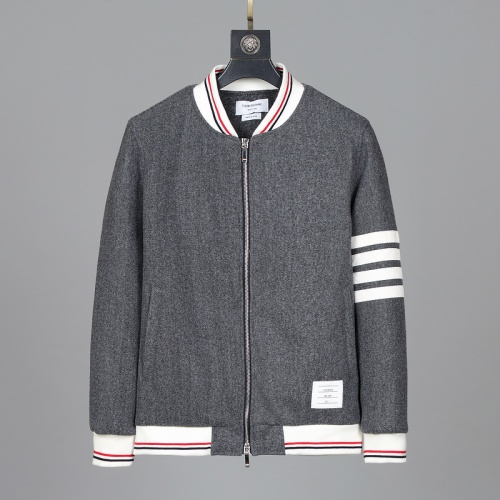 Thom Browne Cotton Jackets Long Sleeved Zipper For Men #814468 $116.00, Wholesale Replica Thom Browne Jackets