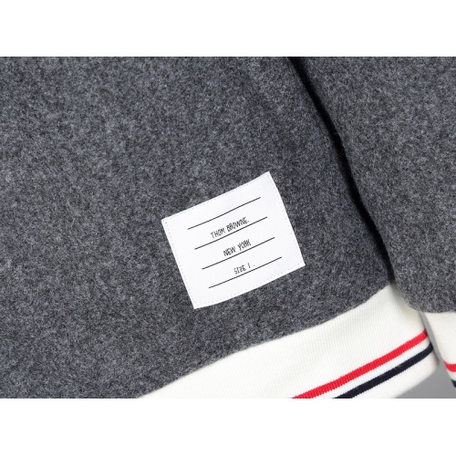 Replica Thom Browne Cotton Jackets Long Sleeved Zipper For Men #814468 $116.00 USD for Wholesale