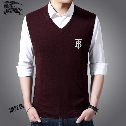 Burberry Sweaters Sleeveless V-Neck For Men #814484