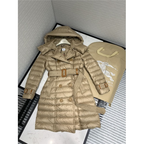 Burberry Down Feather Coat Long Sleeved Zipper For Women #814503