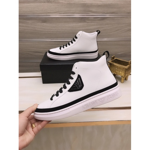 Armani High Tops Shoes For Men #814523