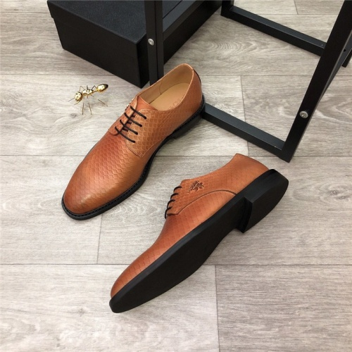 Replica Prada Leather Shoes For Men #814529 $98.00 USD for Wholesale