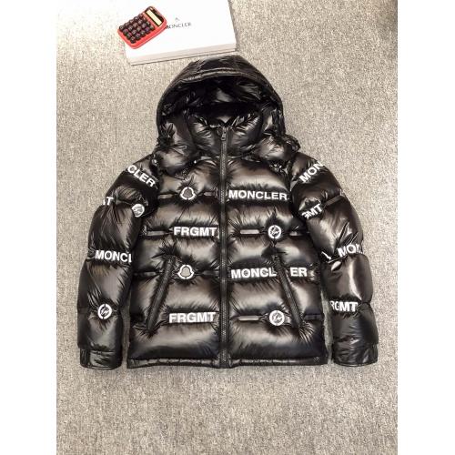 Moncler Down Feather Coat Long Sleeved Zipper For Men #814543