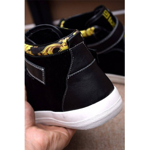 Replica Versace High Tops Shoes For Men #814571 $82.00 USD for Wholesale
