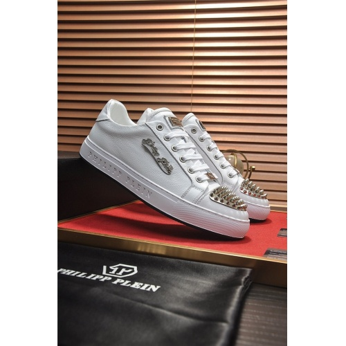 Replica Philipp Plein PP Casual Shoes For Men #814630 $80.00 USD for Wholesale