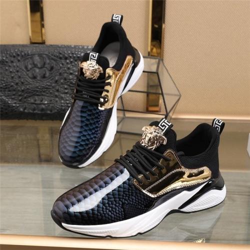 Versace Casual Shoes For Men #814663 $82.00, Wholesale Replica Versace Casual Shoes