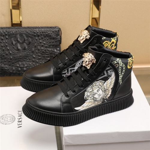 Replica Versace High Tops Shoes For Men #814680 $85.00 USD for Wholesale