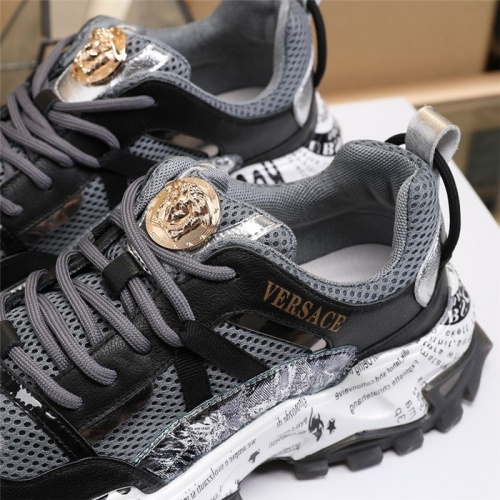 Replica Versace Casual Shoes For Men #814695 $85.00 USD for Wholesale