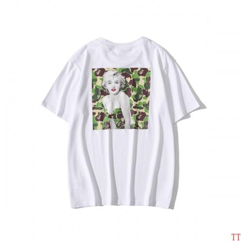 Bape T-Shirts Short Sleeved O-Neck For Men #815072 $25.00 USD, Wholesale Replica Bape T-Shirts