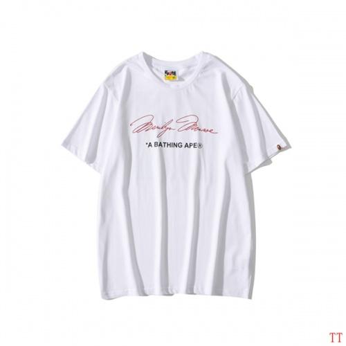 Replica Bape T-Shirts Short Sleeved O-Neck For Men #815072 $25.00 USD for Wholesale