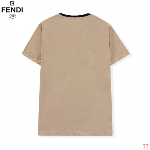 Replica Fendi T-Shirts Short Sleeved O-Neck For Men #815095 $32.00 USD for Wholesale