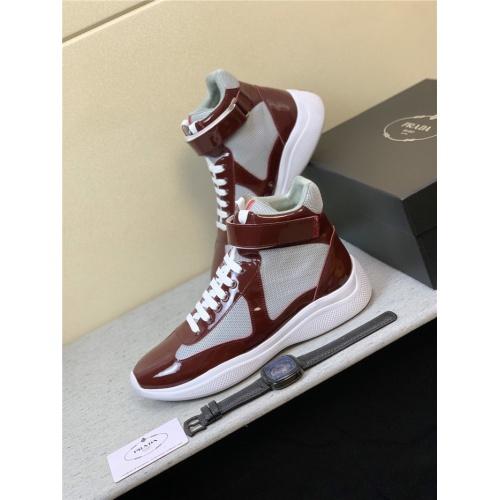 Prada High Tops Shoes For Men #815296