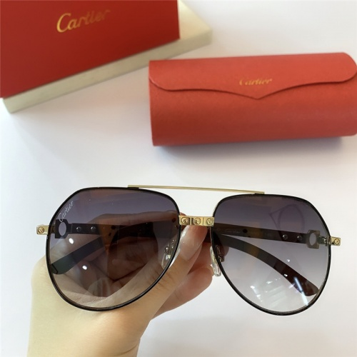 Cartier AAA Quality Sunglasses #815418