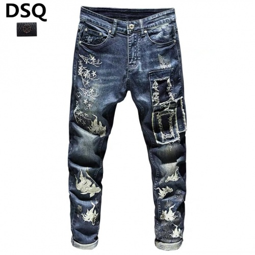 Replica Dsquared Jeans Trousers For Men #815578 $48.00 USD for Wholesale