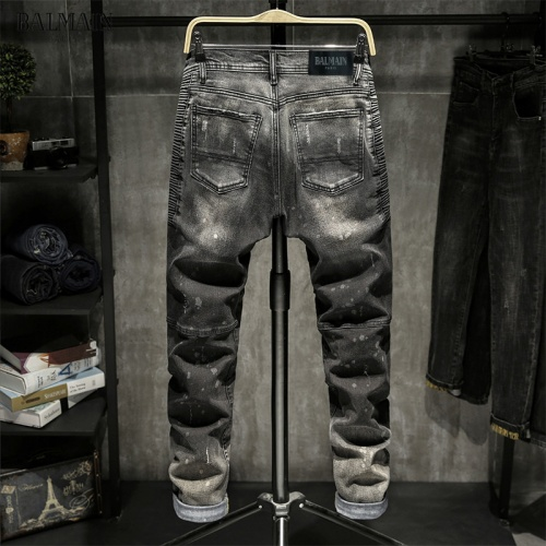 Replica Balmain Jeans Trousers For Men #815588 $48.00 USD for Wholesale