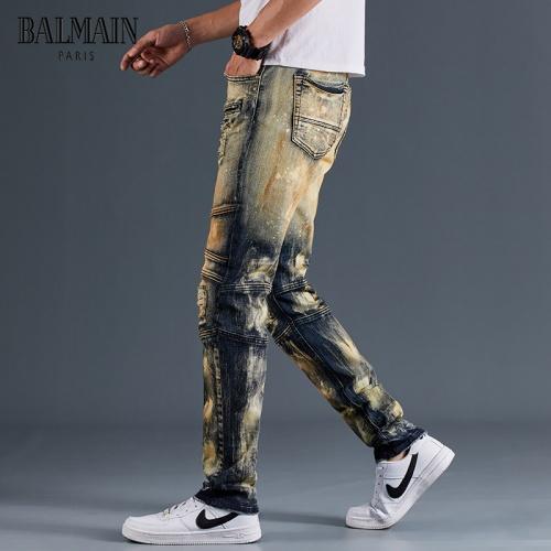 Replica Balmain Jeans Trousers For Men #815590 $48.00 USD for Wholesale