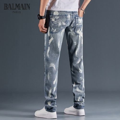 Replica Balmain Jeans Trousers For Men #815591 $48.00 USD for Wholesale