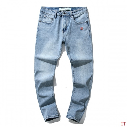 Replica Off-White Jeans Trousers For Men #815624 $52.00 USD for Wholesale