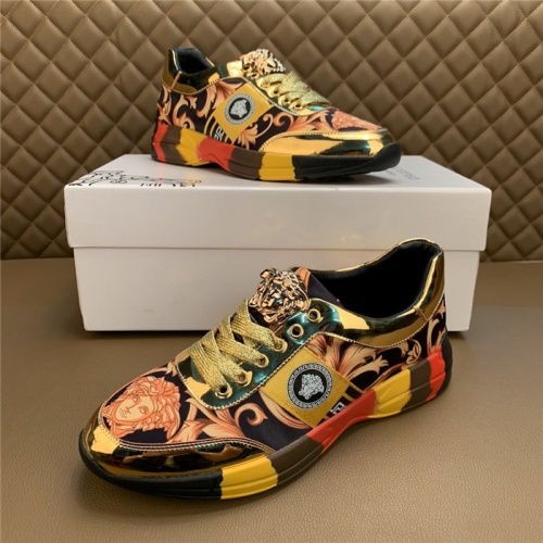 Versace Casual Shoes For Men #815679 $76.00 USD, Wholesale Replica Versace Casual Shoes