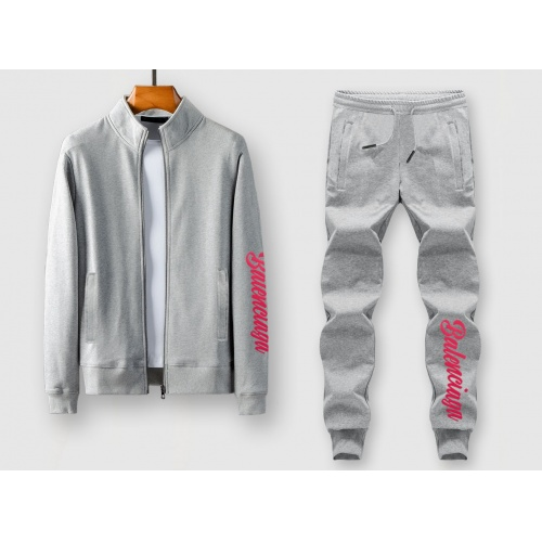 Balenciaga Fashion Tracksuits Long Sleeved Zipper For Men #815853