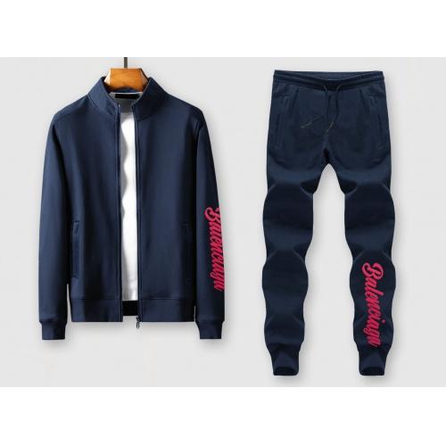Balenciaga Fashion Tracksuits Long Sleeved Zipper For Men #815854