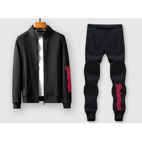 Balenciaga Fashion Tracksuits Long Sleeved Zipper For Men #815855