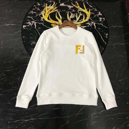 Replica Fendi Hoodies Long Sleeved O-Neck For Men #816057 $40.00 USD for Wholesale