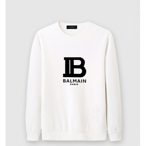 Balmain Hoodies Long Sleeved O-Neck For Men #816477 $36.00, Wholesale Replica Balmain Hoodies