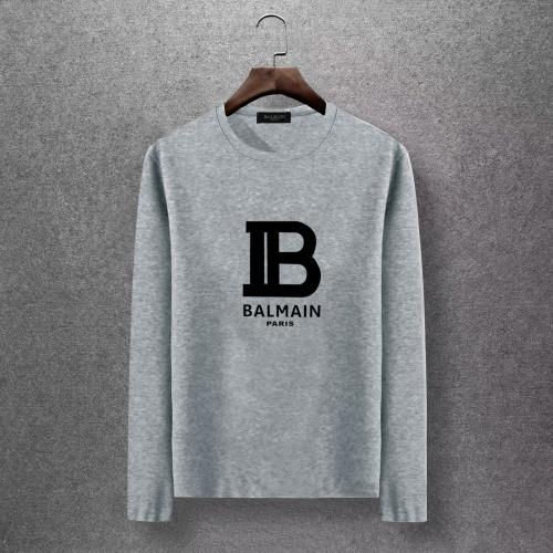 Balmain T-Shirts Long Sleeved O-Neck For Men #816521 $27.00, Wholesale Replica Balmain T-Shirts
