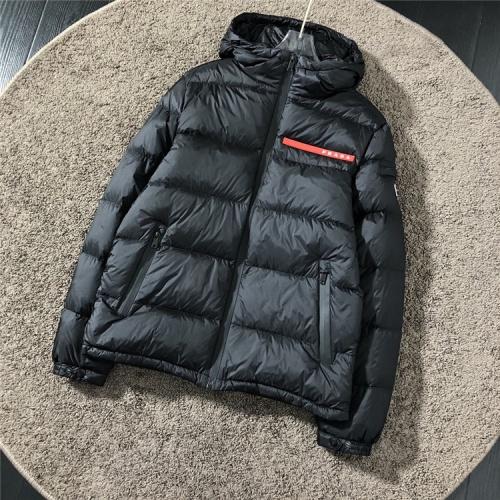 Prada Down Feather Coat Long Sleeved Zipper For Men #816547