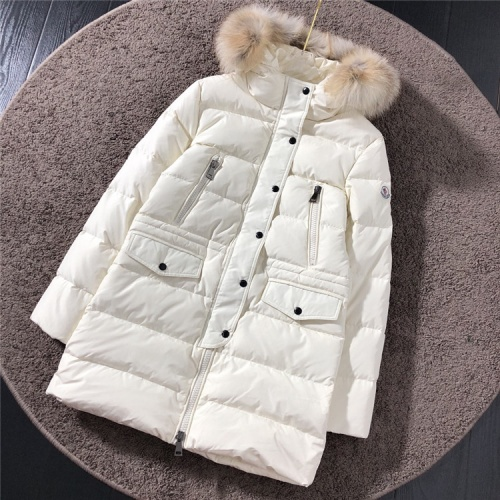 Moncler Down Feather Coat Long Sleeved Zipper For Women #816565