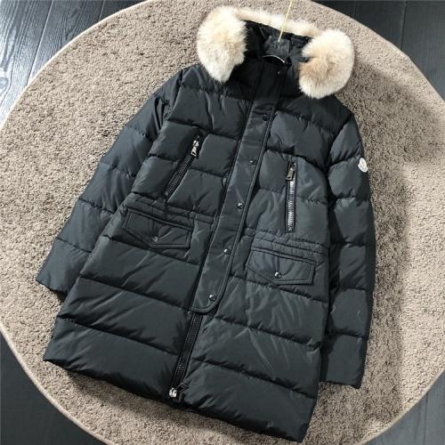 Moncler Down Feather Coat Long Sleeved Zipper For Women #816567