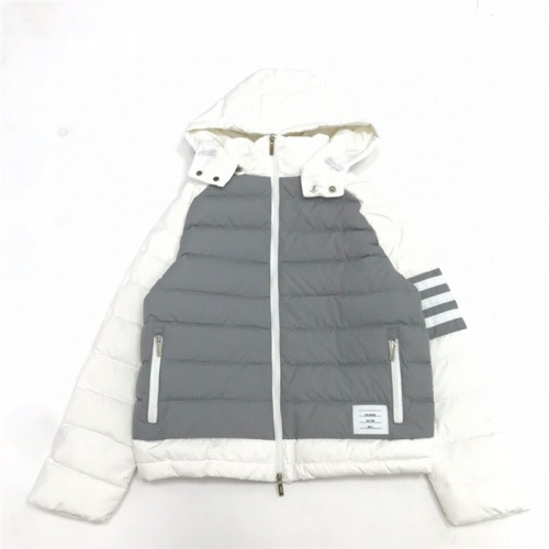Replica Thom Browne Down Feather Coat Long Sleeved Zipper For Men #816597 $131.00 USD for Wholesale