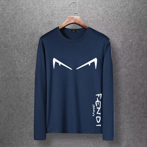 Fendi T-Shirts Long Sleeved O-Neck For Men #816669 $27.00, Wholesale Replica Fendi T-Shirts