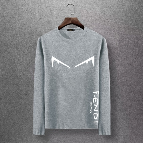Fendi T-Shirts Long Sleeved O-Neck For Men #816670 $27.00, Wholesale Replica Fendi T-Shirts